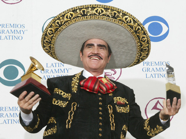 Vicente Fernandez at Latin Grammy Awards Backstage